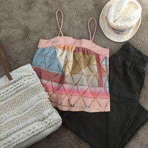 NWT Anthropologie multicolored tank